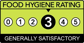 Food Hygiene Rating is: 3