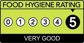 Food Hygiene Rating is: 5